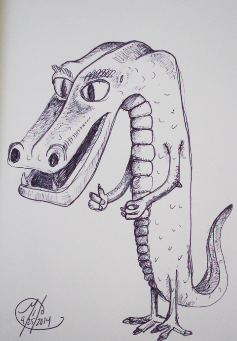 Gator 09252014 - Pen on paper
